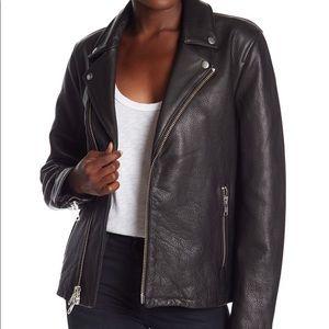 FRAME Boyfriend Black  Leather Moto Jacket  NWT